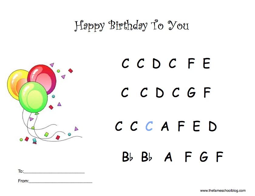 Happy Birthday Piano Sheet Music With Letters Heartpulsar