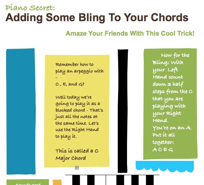 Summer Piano Short Cool Chords Kids Keys