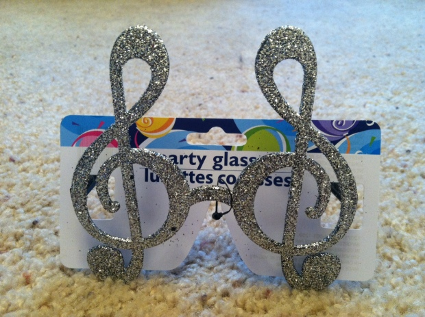 Treble Clef Glasses