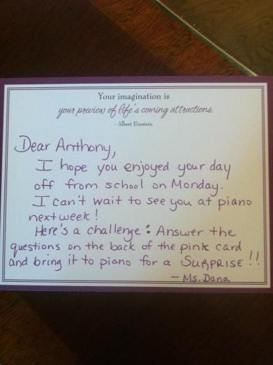challenge letter