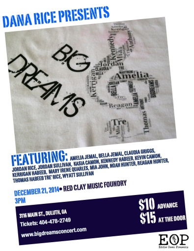 Big Dreams Concert Poster